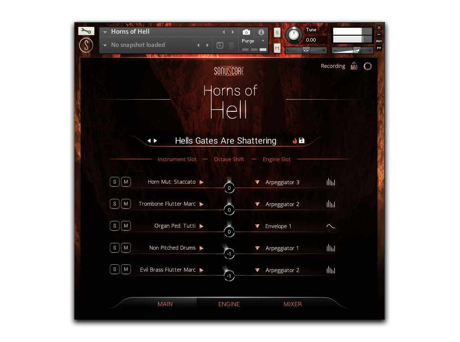 Horns Of Hell Main GUI