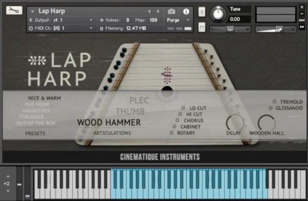 Lap Harp GUI