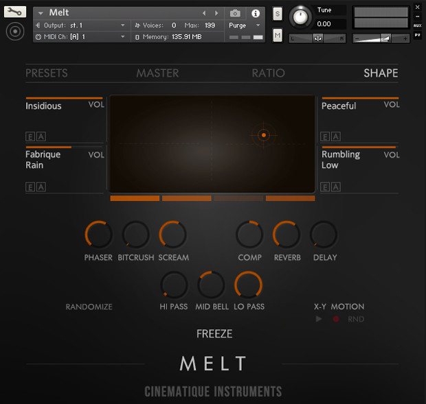 Melt UI Screen Basic