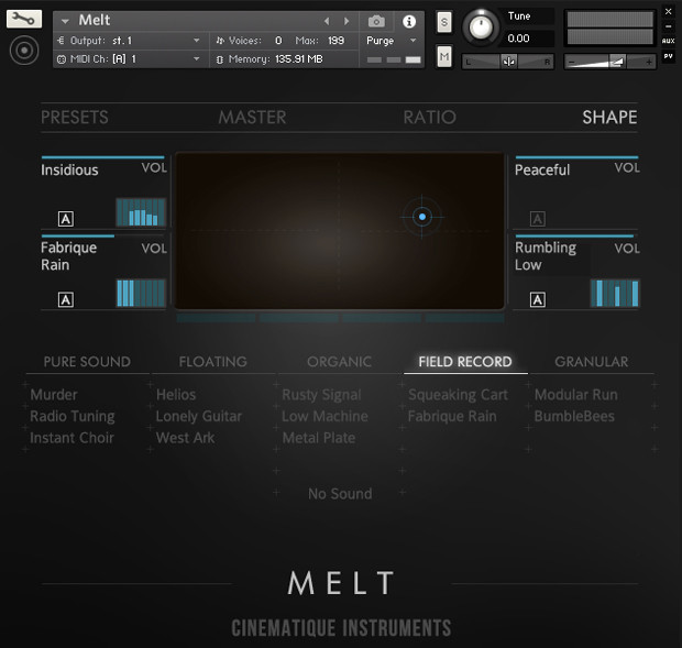 Melt UI Screen Two