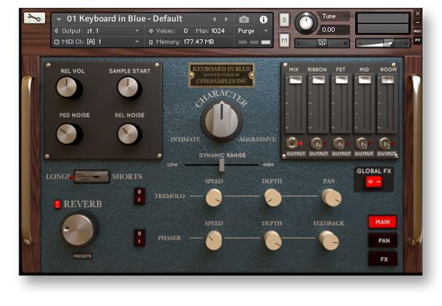 Keyboard in Blue GUI
