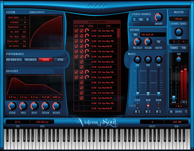 Voices of Soul GUI Screen