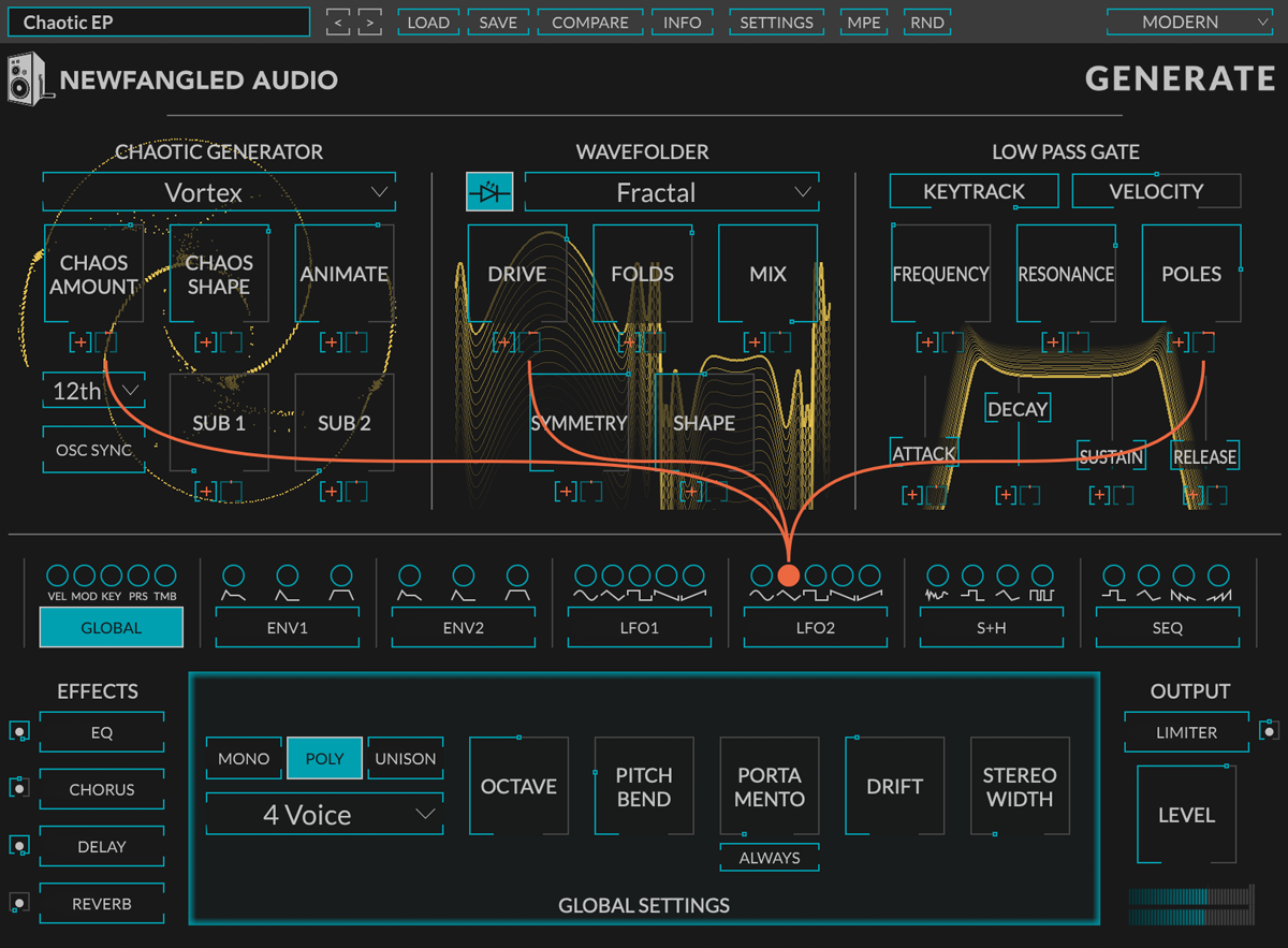 Eventide Generate GUI