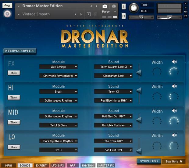 Dronar Master Edition Sounds GUI
