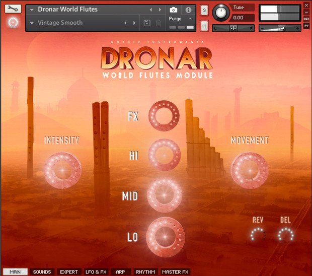 Dronar World Flutes GUI Screen