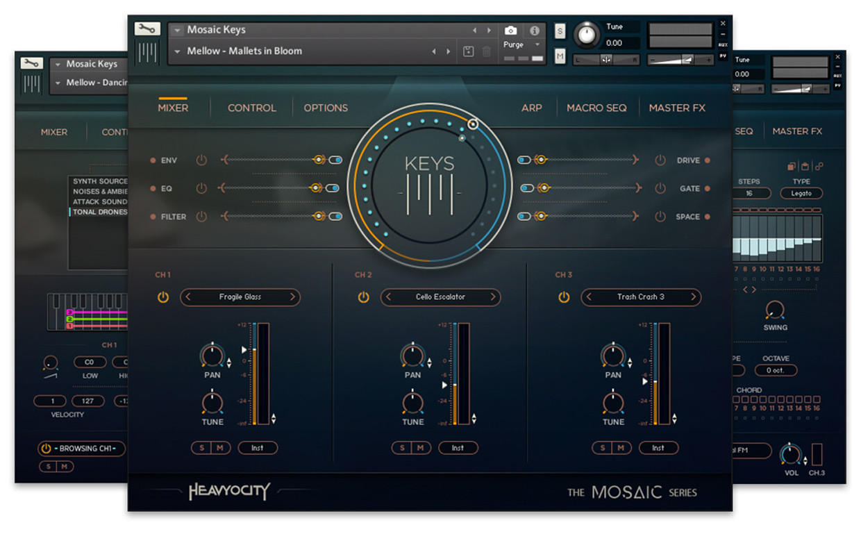 Mosaic Keys GUI Art