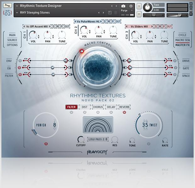 Rhytmic Textures GUI Screen