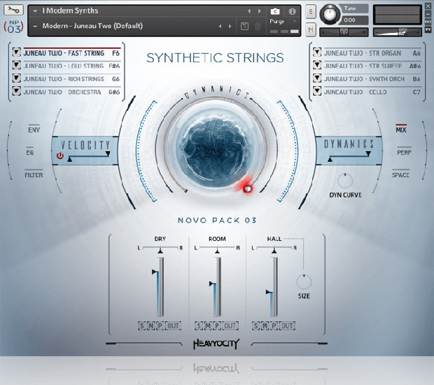 Synthetic Strings GUI Screen