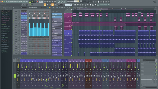 FL studio 20 Producer GUI Screen
