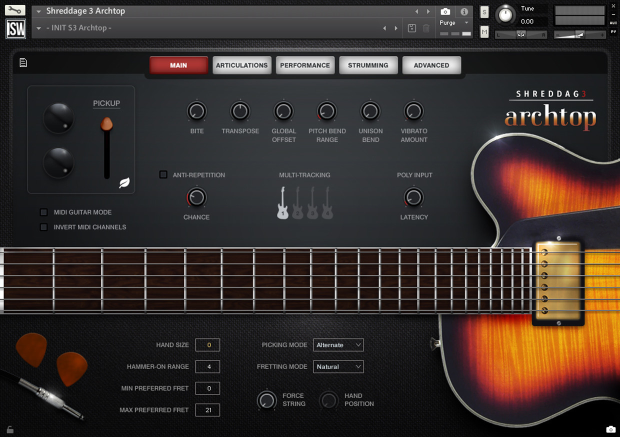 Archtop GUI