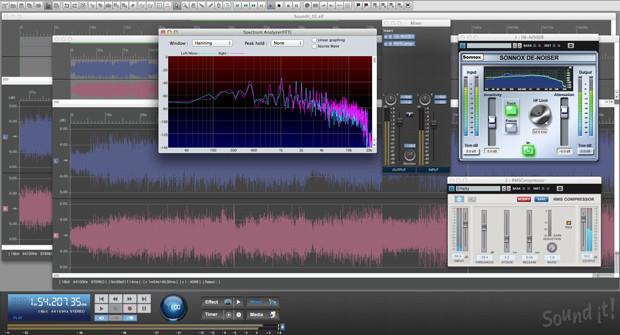 Sound It 8 Basic Mac GUI Screen