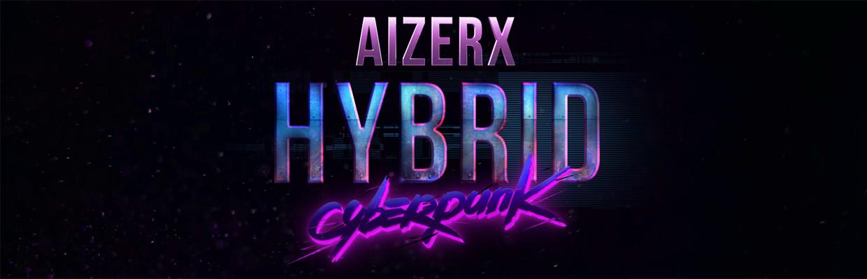 AizerX Hybrid Cyberpunk Header