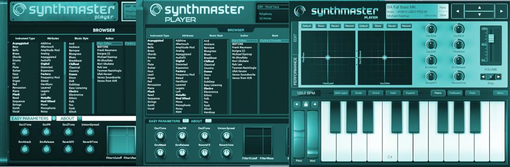 SynthMasterPlayer GUI