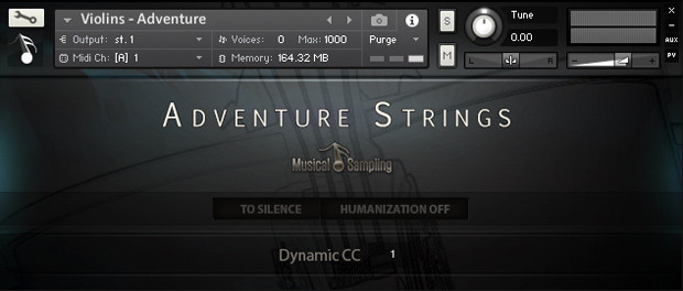 Adventure Strings GUI