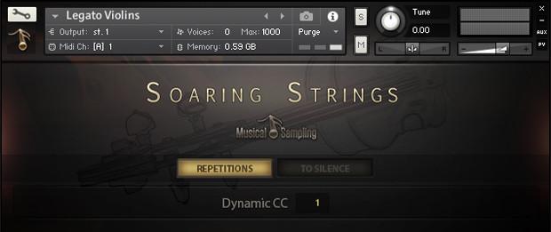 Soaring Strings GUI