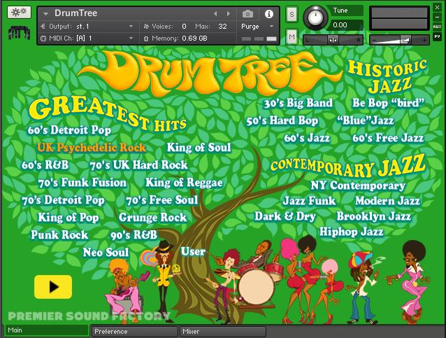 Drum Tree Interface