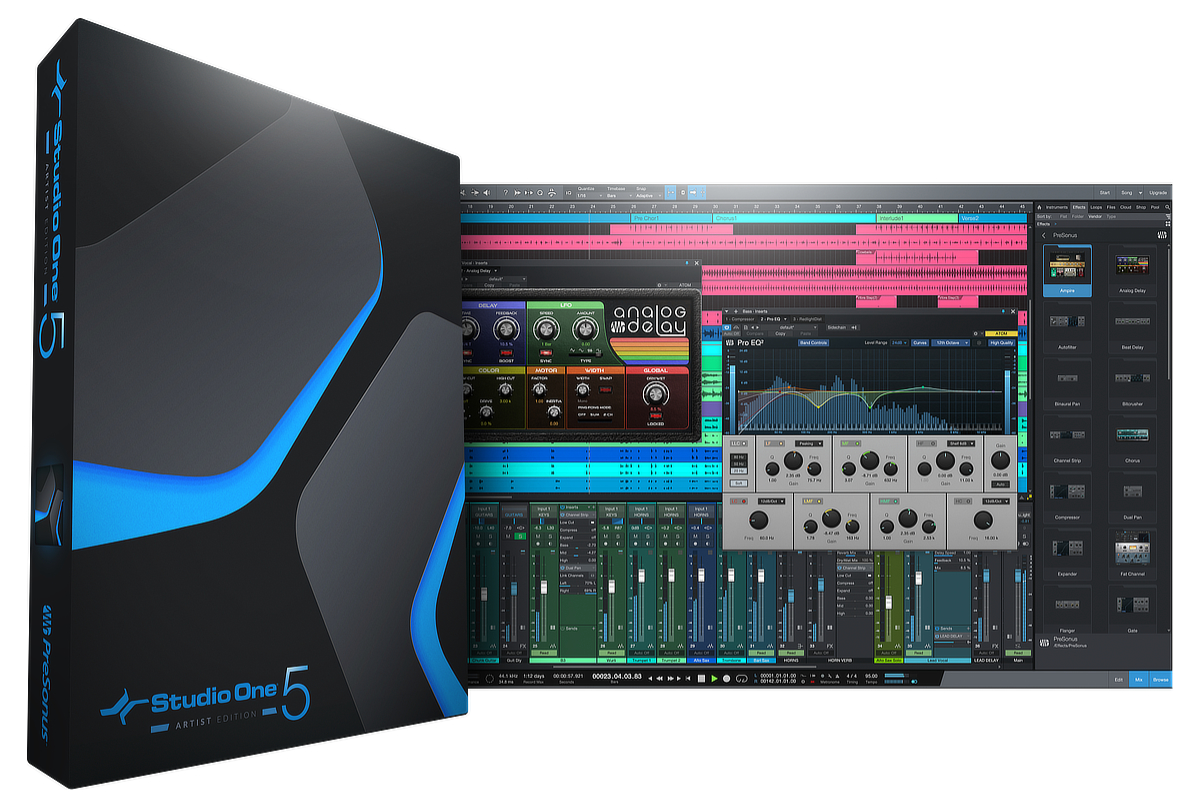 Studio One 5 Artist Box and Screenshot