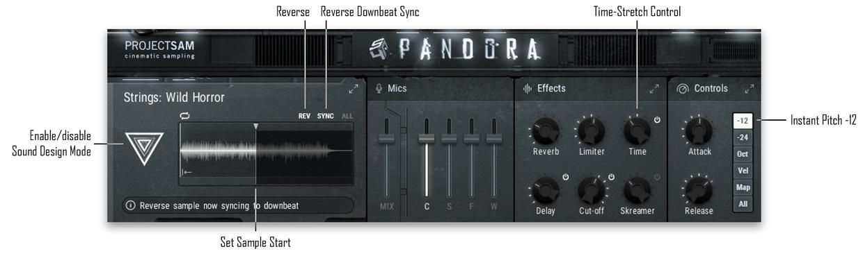 Sound Design Mode GUI with Captions