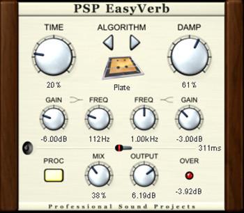 PSPEasyverb GUI
