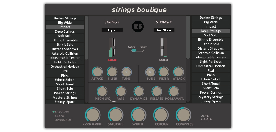 Strings Boutique GUI