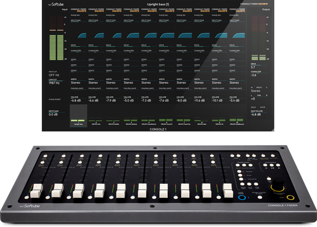 Console 1 Fader and Software Screen