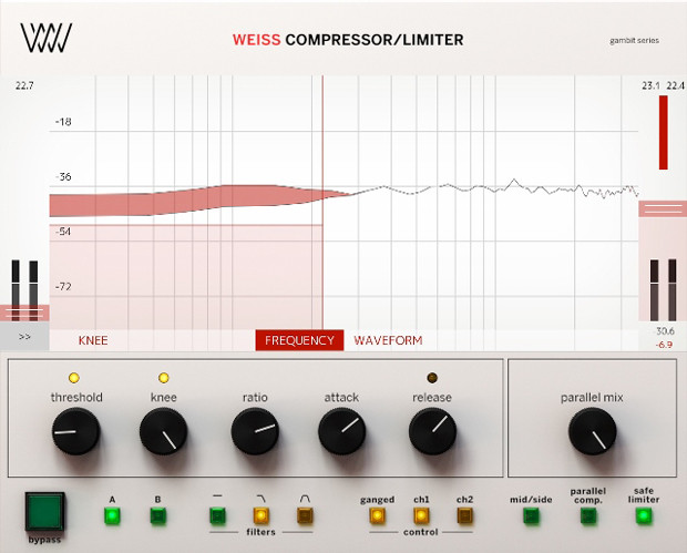 Weiss Compressor/Limiter UI