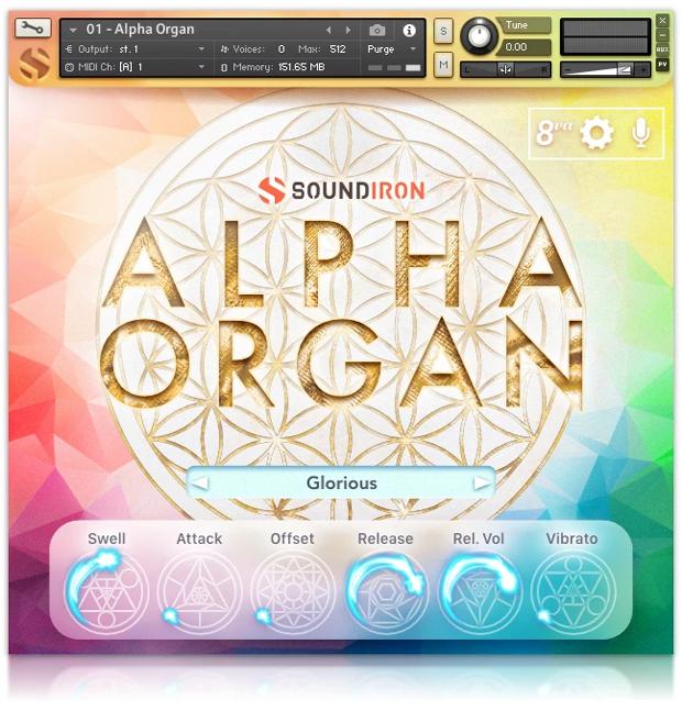 Alpha Organ Main Screen
