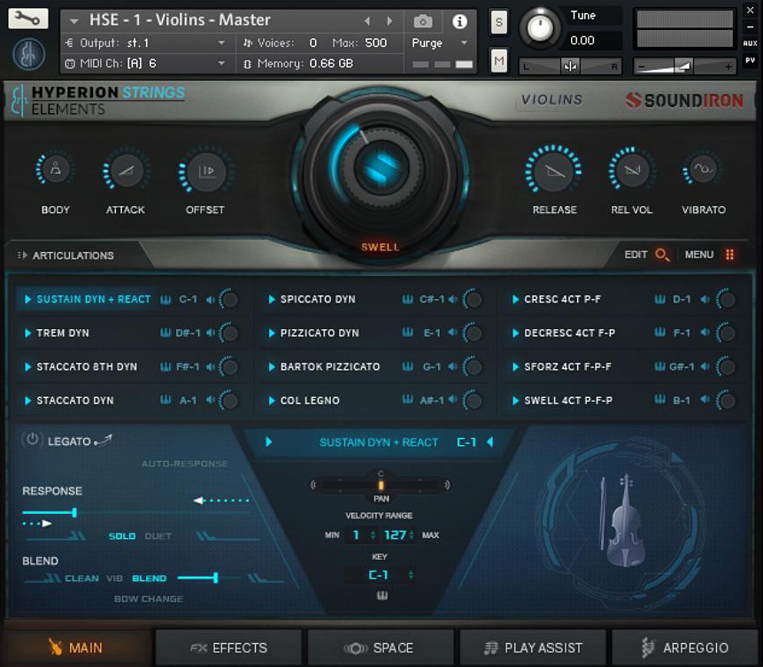 Hyperion Strings Elements GUI 1
