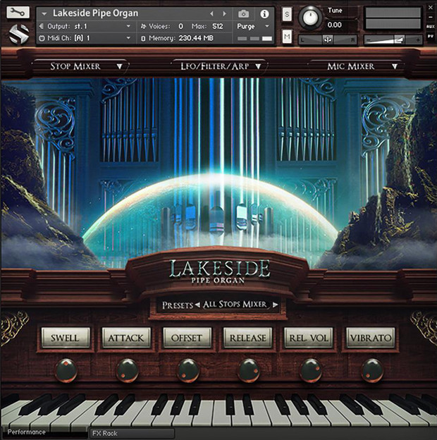 Lakeside Pipe Organ GUI