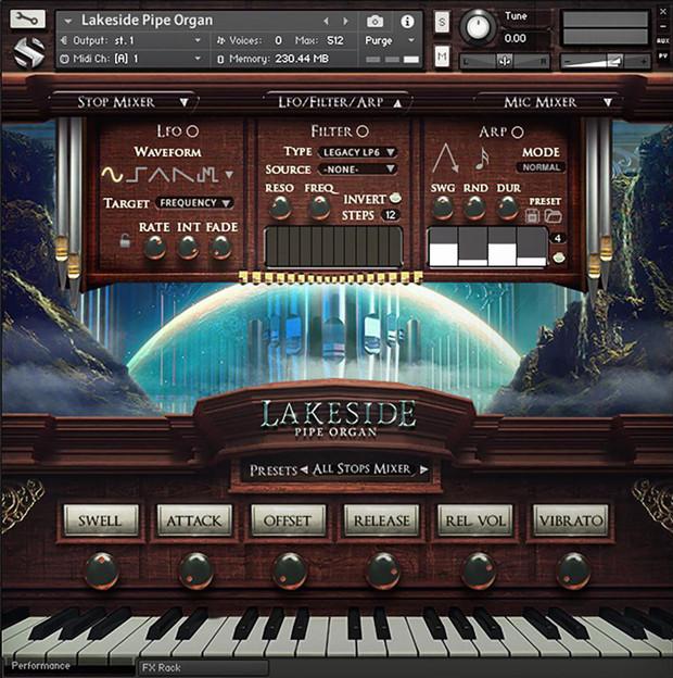 Lakeside Pipe Organ GUI 2