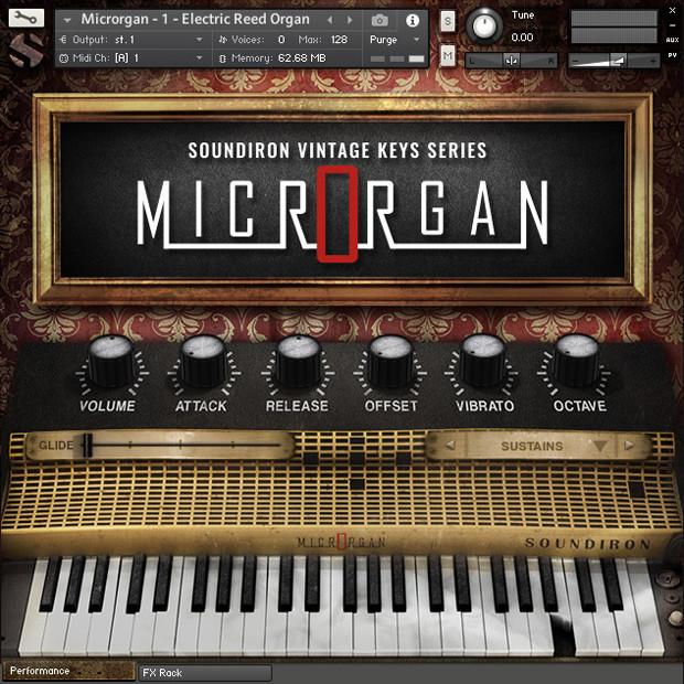 Microrgan GUI Screen