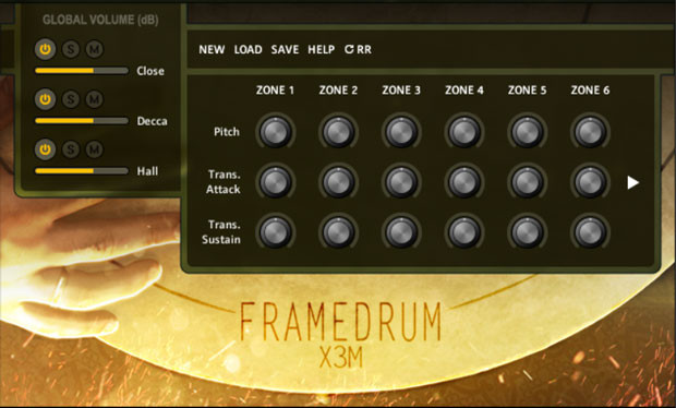 Frame Drum GUI Screen