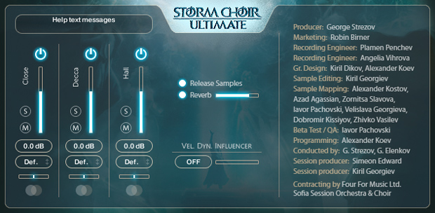 Storm Choir Ultimate FX GUI
