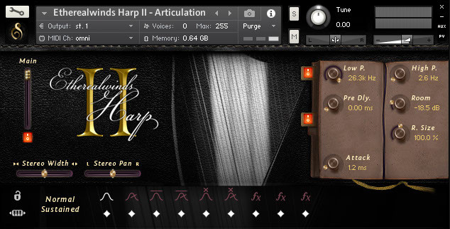 Etherealwinds Harp II GUI