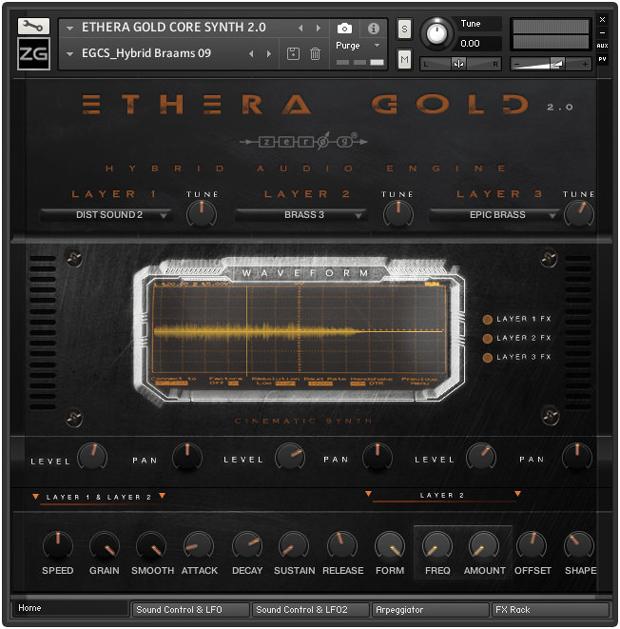 Ethera Gold 2.0 Core Synth GUI