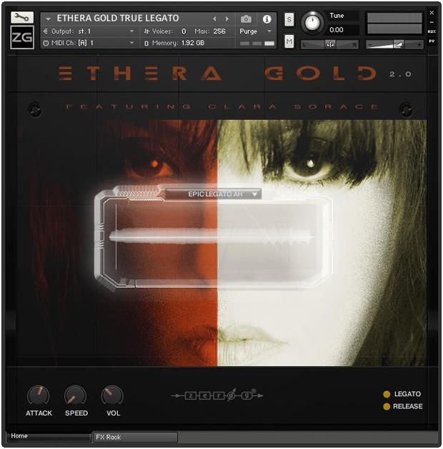 Ethera Gold 2.0 Legato GUI
