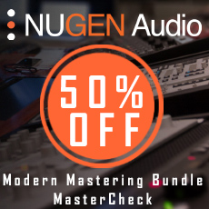 NUGEN Audio - Mastering Sale: 50% OFF