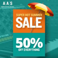 AAS Super Hot Summer Sale - 50% OFF