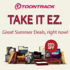 Toontrack: Take It EZ - 20% OFF