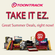 Toontrack: Take It EZ - 20% OFF
