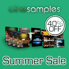 Cinesamples Summer Sale - 40% OFF All Products