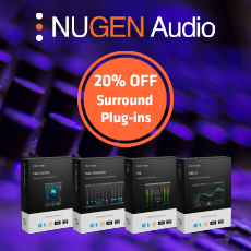 NUGEN Audio - 20% OFF Surround Plug-ins