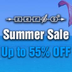Zero G Summer Sale - Up to 55% OFF