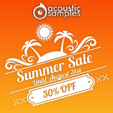 Acousticsamples Summer Sale - 30% OFF