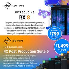 iZotope RX 8 & RX  PPS 5 Einführungsangebot