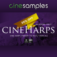 Cinesamples: CineHarps Flash Sale