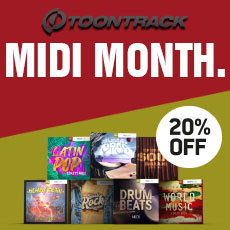 Toontrack MIDI MONTH - 20% OFF