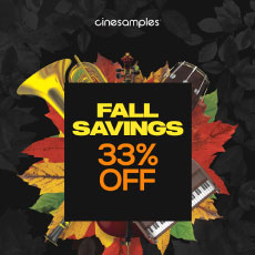 Cinesamples: Fall Savings 33% OFF
