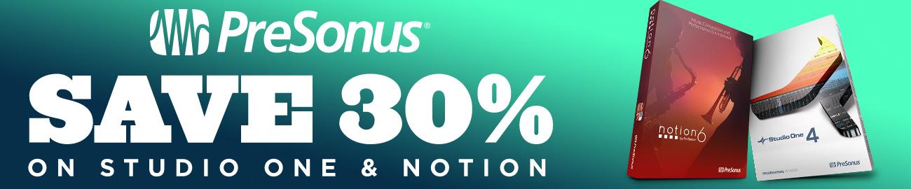 Banner Presonus - 30% off Studio One & Notion