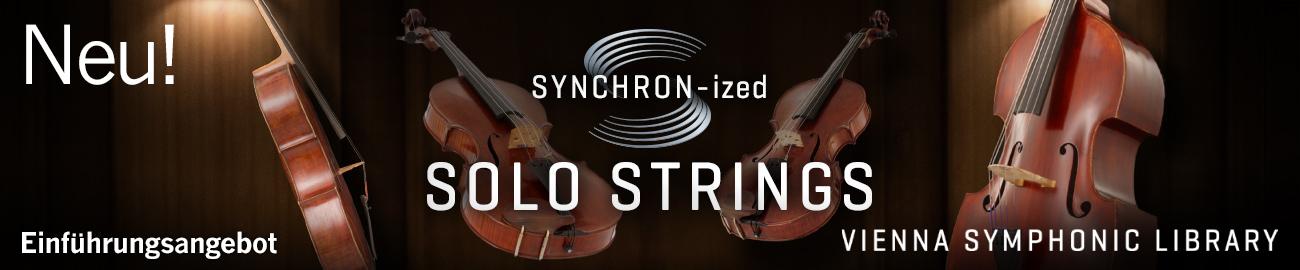 Banner VSL SYNCHRON-ized Solo Strings Einführungsangebot